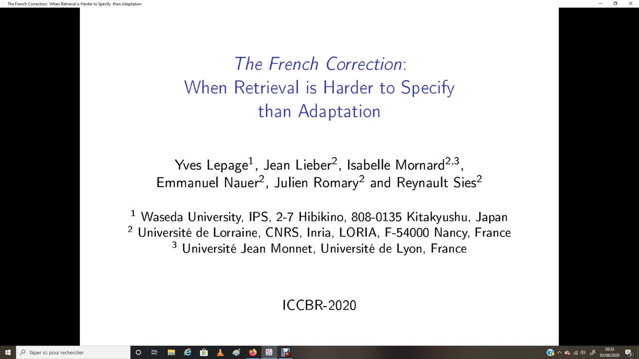 "Paper 11: ""The French Correction: When Retrieval is Harder to Specify..."