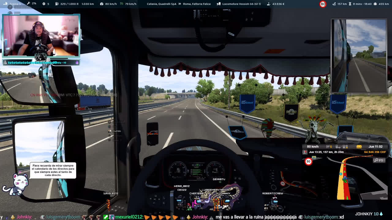 De rutas con Carmen Volante g29 manual en Euro Truck Simulator 2