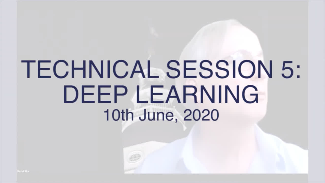 Technical Session 5: Deep learning