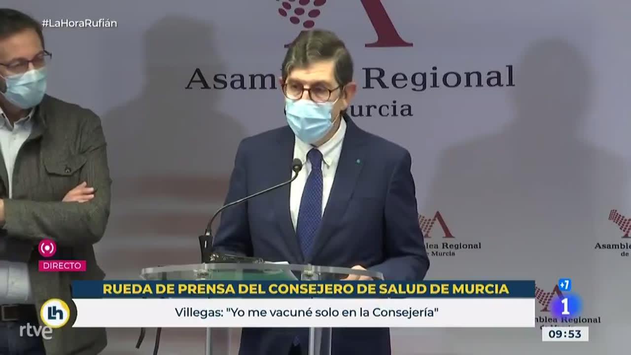 El Consejero de Sanidad de Murcia se disculpa