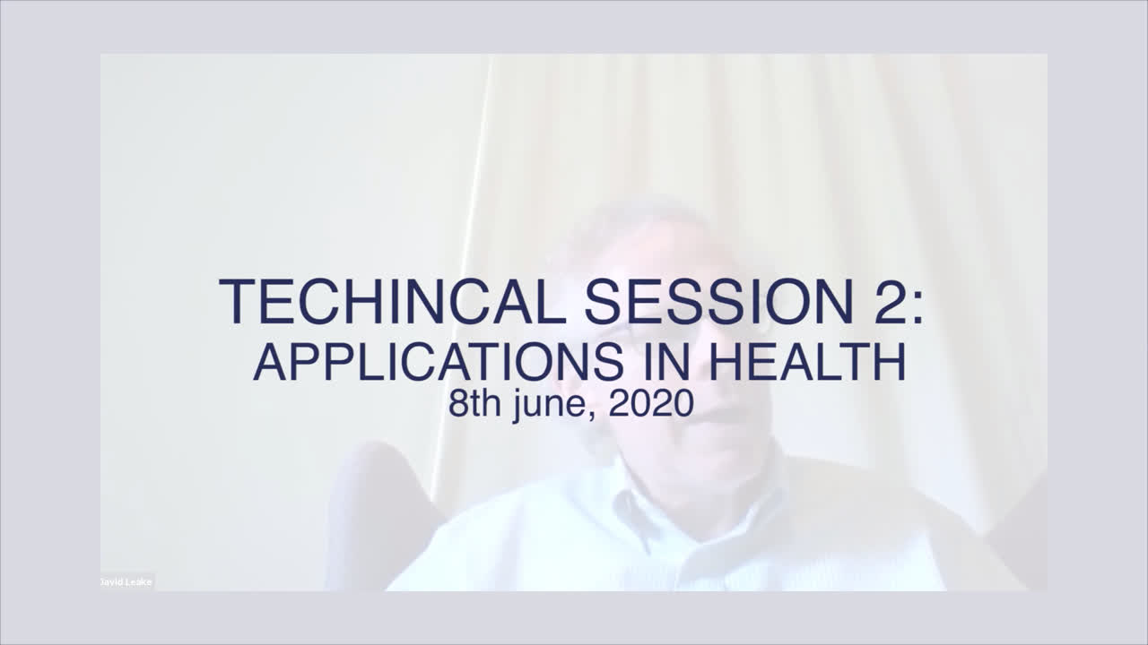 Technical Session 2: Applications in Health