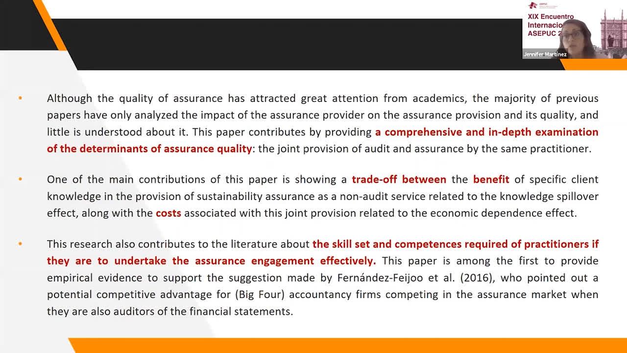 Verificación de la Información no-financiera II