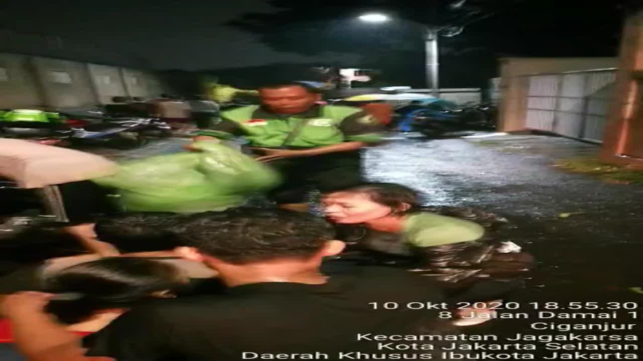 landslide in ciganjur jakarta