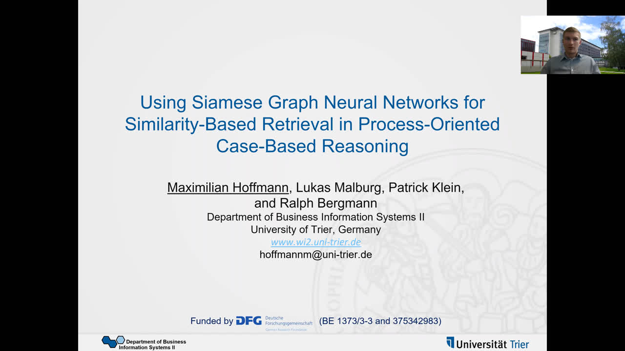 "Paper 44: ""Using Siamese Graph Neural Networks for Similarity-Based"