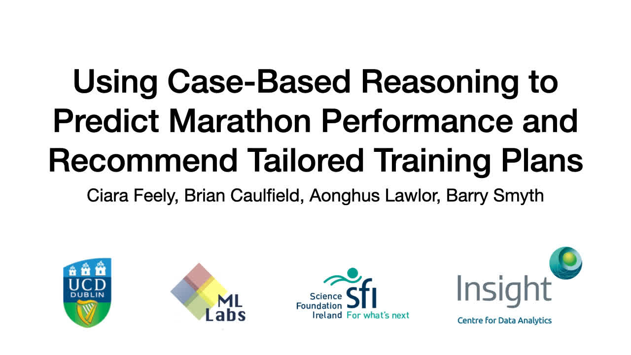 "Paper 45: ""Using Case-Based Reasoning to Predict Marathon"