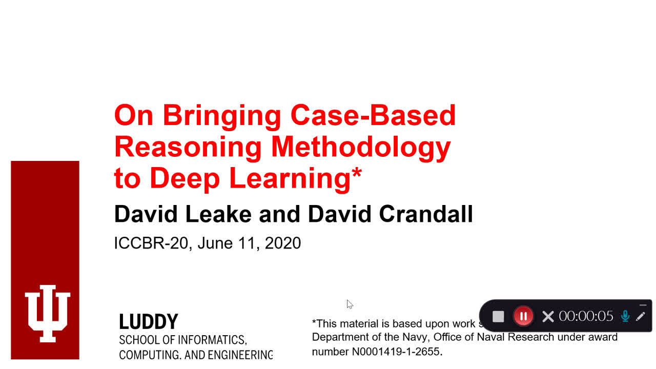 "Paper 92: ""On Bringing Case-Based Reasoning Methodology to Deep"