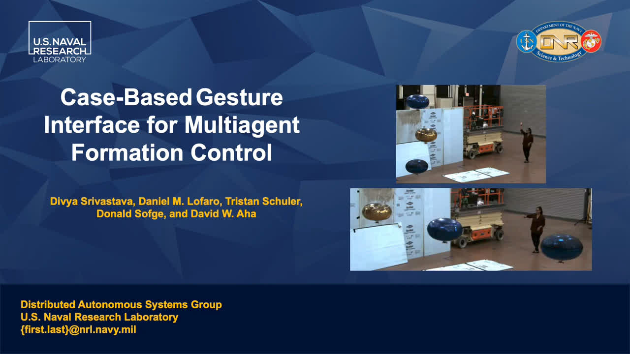 "Paper 66: ""Case-Based Gesture Interface for Multiagent Formation Control"""