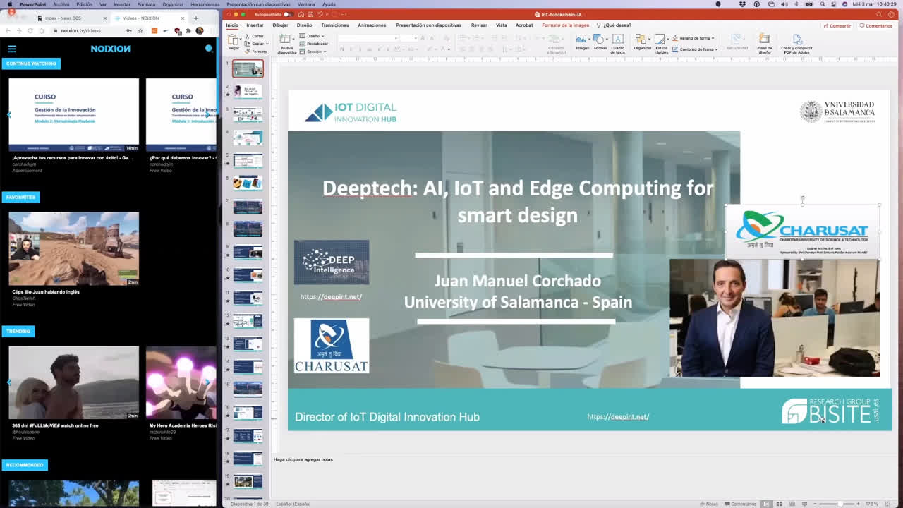 Keynote: Deeptech: AI, IoT and Edge Computing for smart design (short)