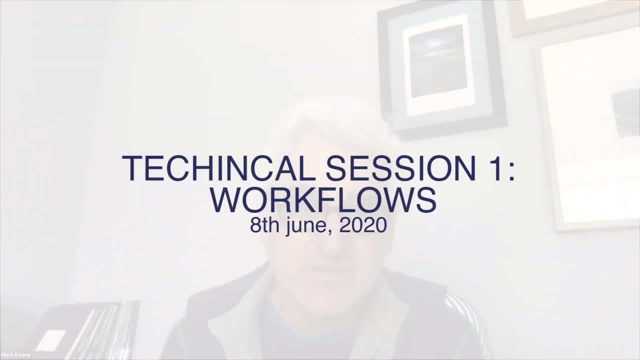Technical Session 1: Workflows