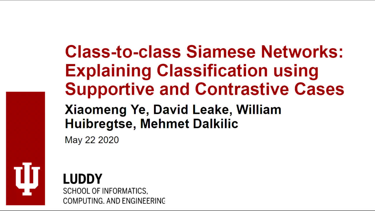 "Paper 70: ""Class-to-class Siamese Networks: Explaining Classification"