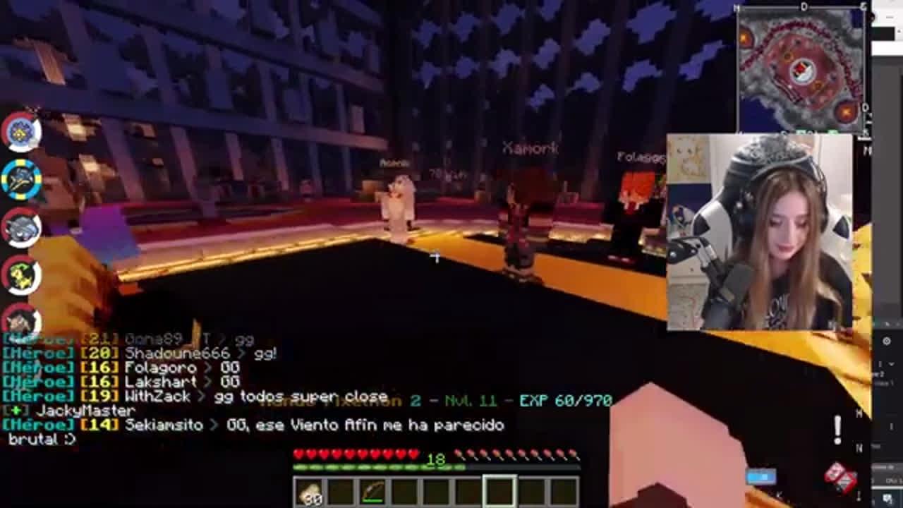 Mayichi sabel que en el Minecraft no siempre todo sale bien