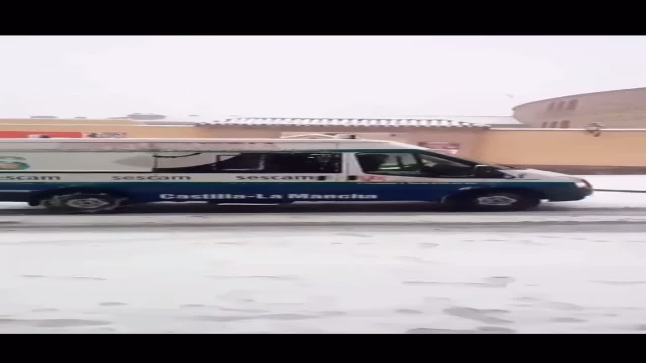 Ambulancia sobre nieve