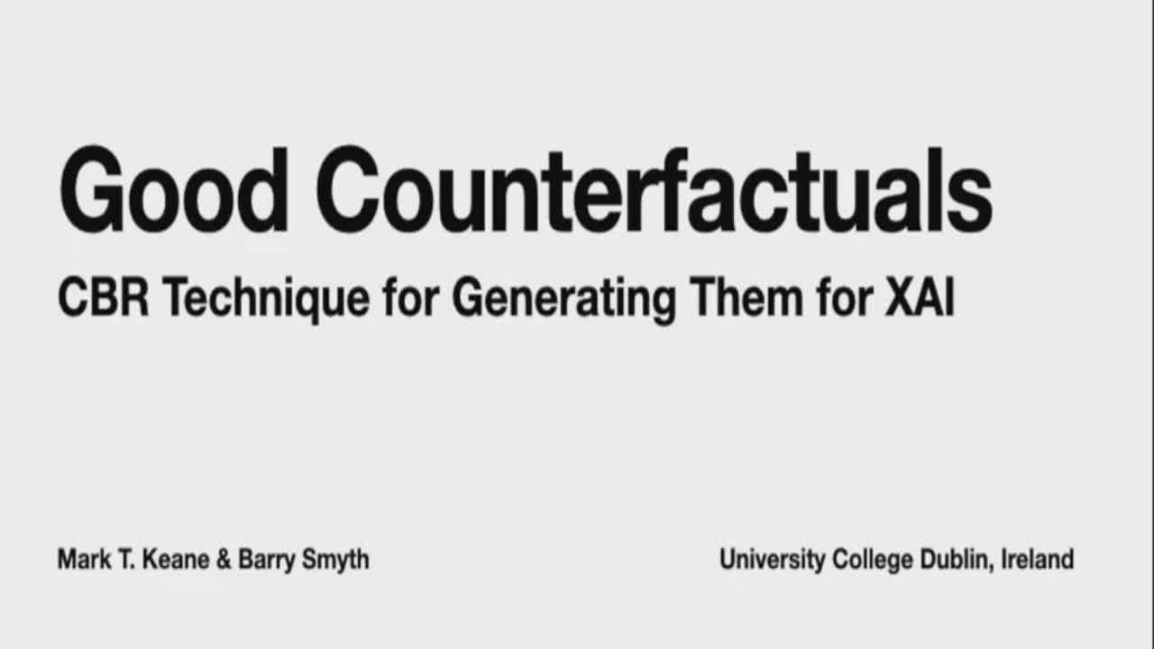 "Paper 14: ""Good Counterfactuals and Where to Find Them..."