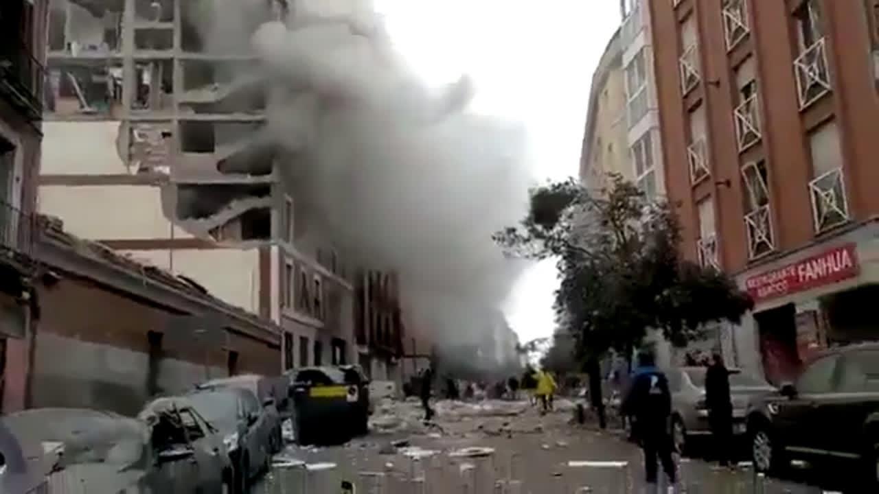 Nuevo video de la explosión en Madrid