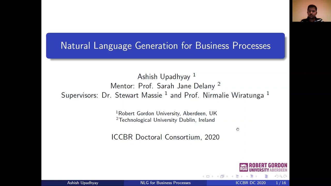 "Paper 78: ""Natural Language Generation for Business Processes"""