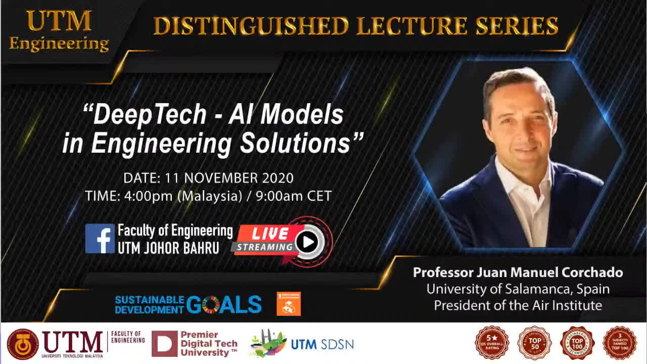 Distinguished Lecture Series #77 - Faculty of Engineering UTM Johor Bahru