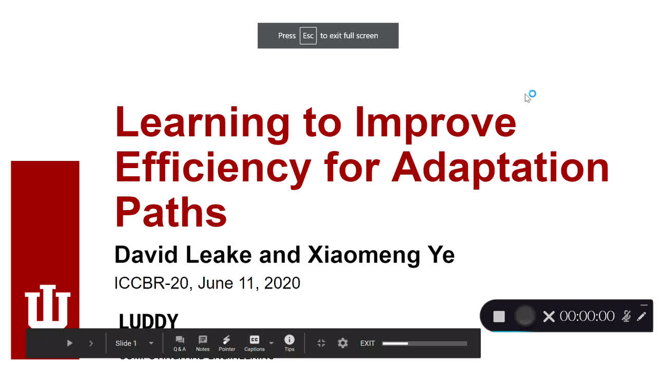 "Paper 68: ""Learning to Improve Efficiency for Adaptation Paths"""