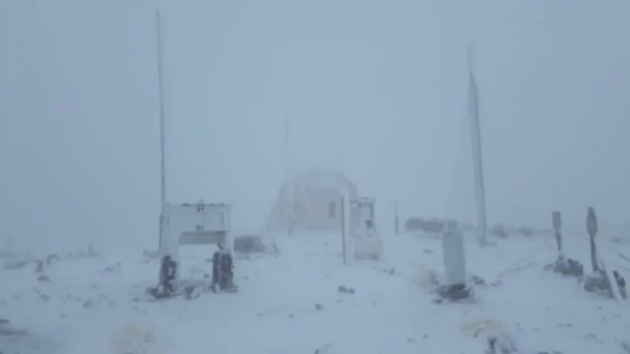 Nieva en el Teide